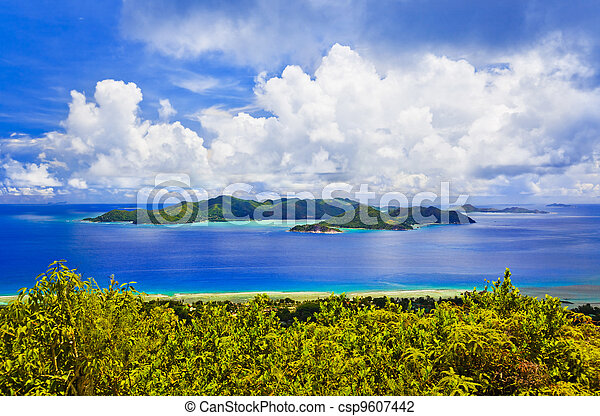 Island Praslin at Seychelles - csp9607442
