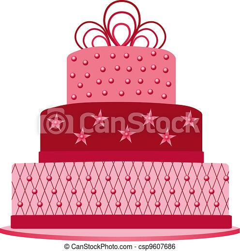 pink cake - csp9607686