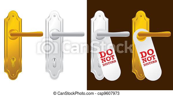 Door handle in gold and silver  - csp9607973