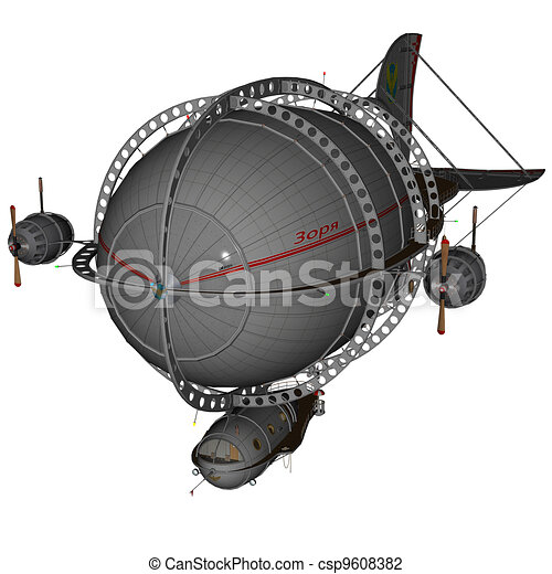 3D rendered airship - csp9608382