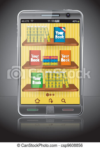Books on Smart Phone - csp9608856
