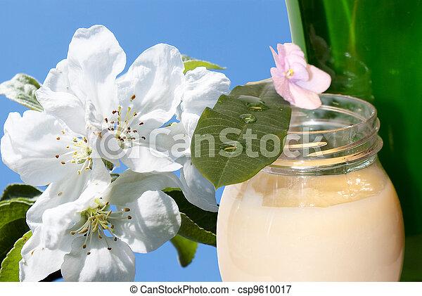 Female cream for care of a skin - csp9610017