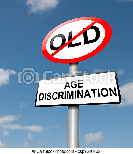 Age discrimination concept. - csp9610102