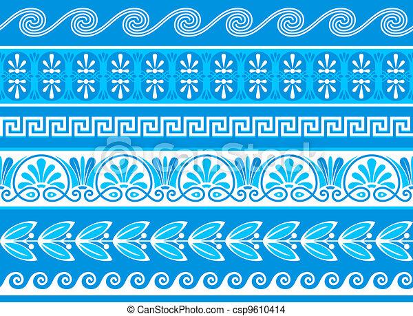 Decorative greek borders - csp9610414