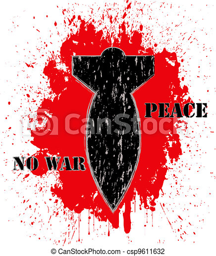 """No war"" poster - csp9611632"