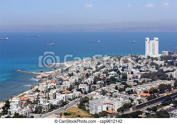 aerial view of Haifa - csp9612142
