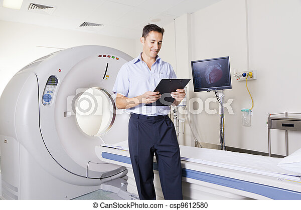 MRI scanner and doctor