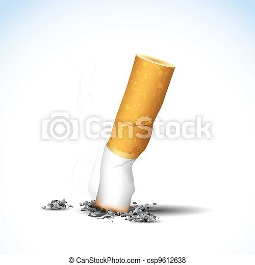 Burning Cigarette - csp9612638