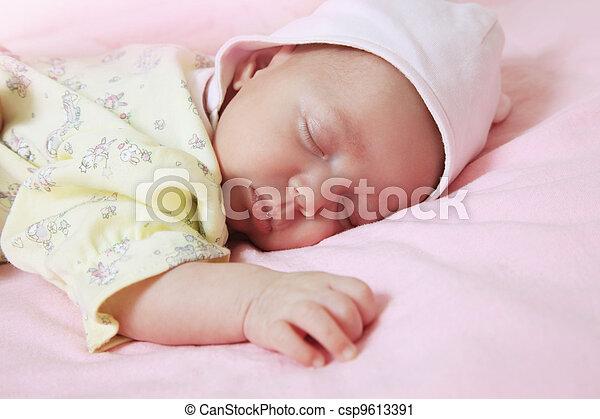 New born baby - csp9613391