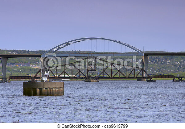 Bridges Spanning Lake Superior in Duluth Superior - csp9613799