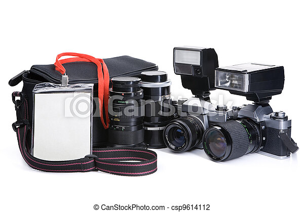 Journalist equipment - csp9614112