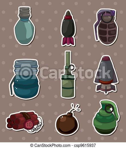 bomb stickers - csp9615937