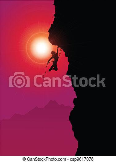 Extreme rock climber - csp9617078