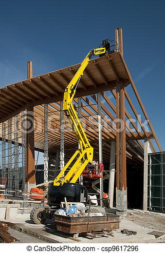 Glued laminated timber - Platform - csp9617296