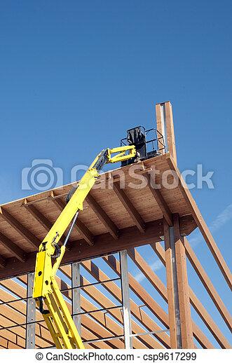 Glued laminated timber - Platform - csp9617299