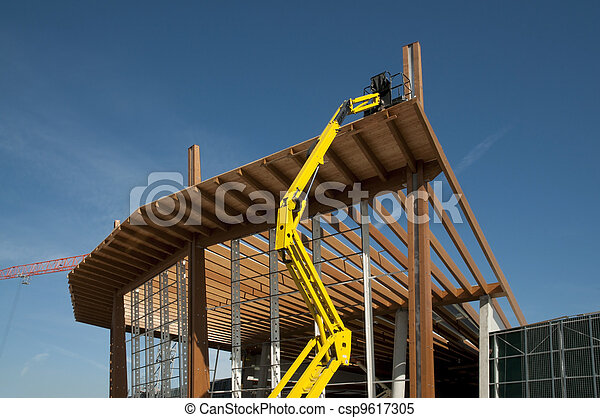 Glued laminated timber - Platform - csp9617305