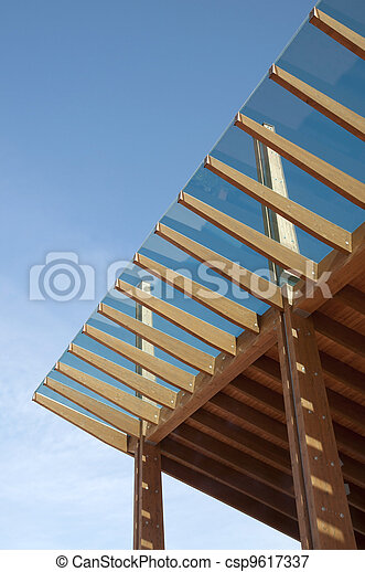 Glued laminated timber - csp9617337