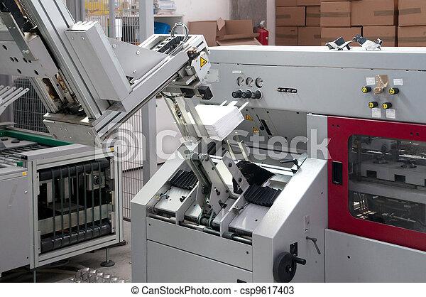 Print shop - Finishing line - csp9617403
