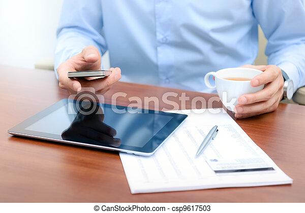 färsk, teknologien,  workflow - csp9617503