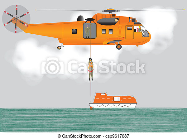 Search and Rescue Helicopter - csp9617687