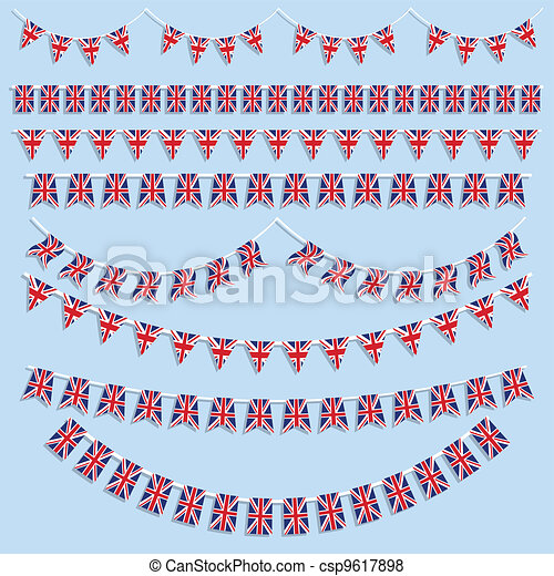 Union Jack Flag decoration - csp9617898