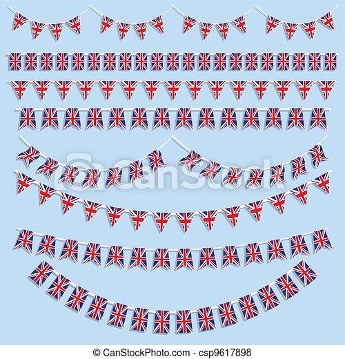 Union Jack Flag decoration - csp9617898