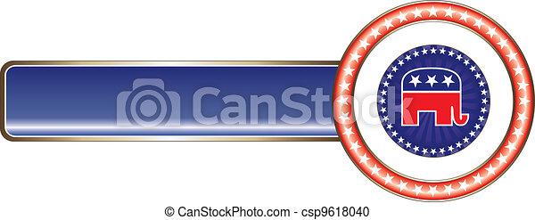 Political Label Republican Stars - csp9618040