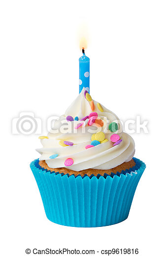 Birthday cupcake - csp9619816
