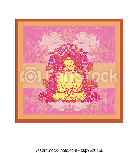 Artistic Buddhism Pattern  - csp9620150