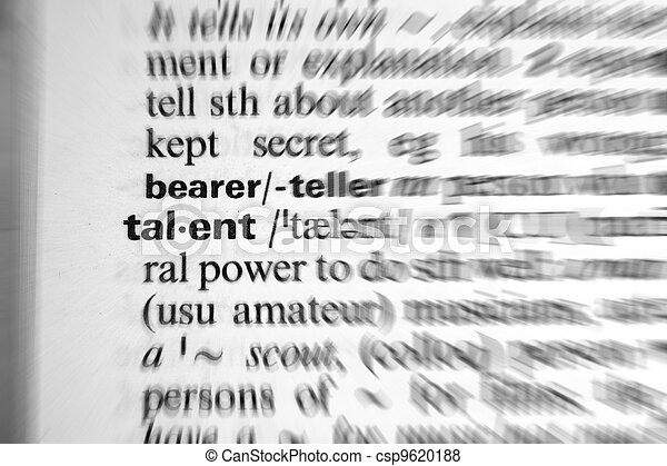 dictionary word talent - zoom effect - csp9620188