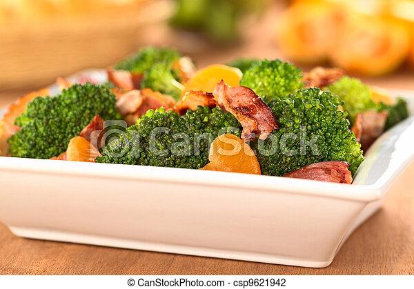 Broccoli Mandarin Bacon Salad - csp9621942