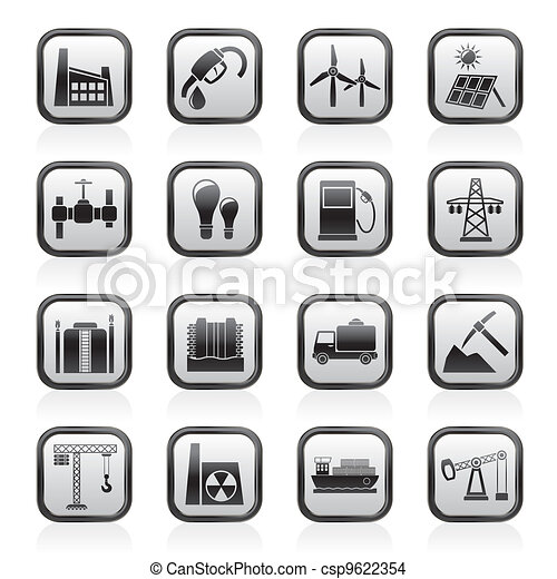 Business and industry icons - csp9622354