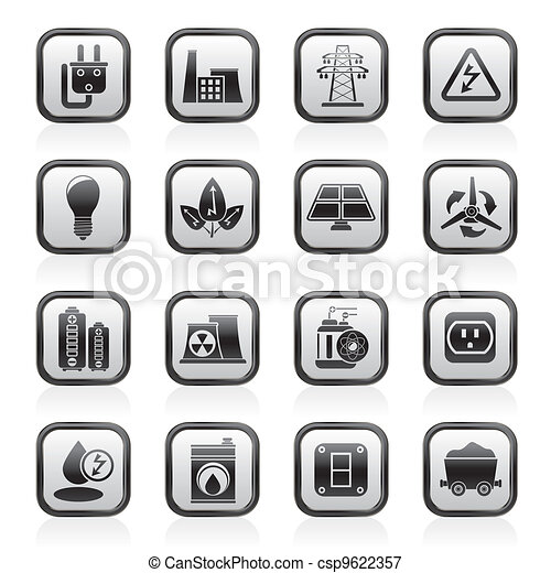 power, energy and electricity icons - csp9622357