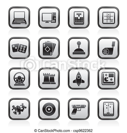 Computer Games tools and Icons - csp9622362