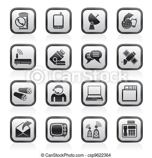 Communication and connection icons - csp9622364