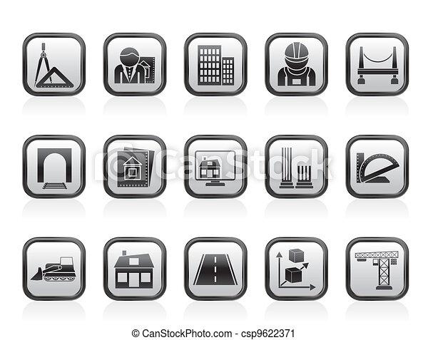 建筑学, 建设, 图标 - csp9622371