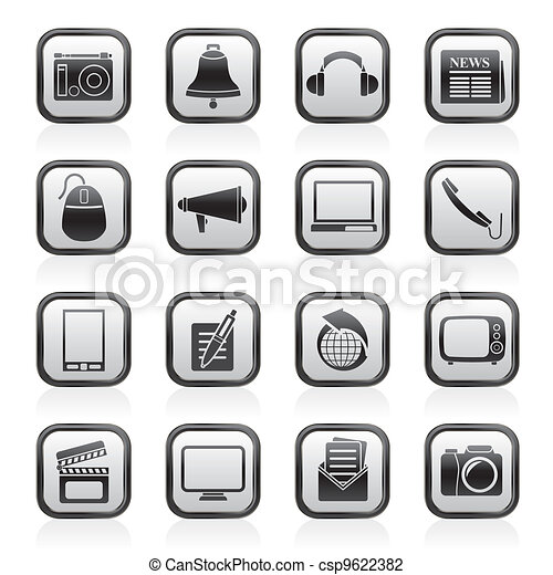Communication and media icons - csp9622382