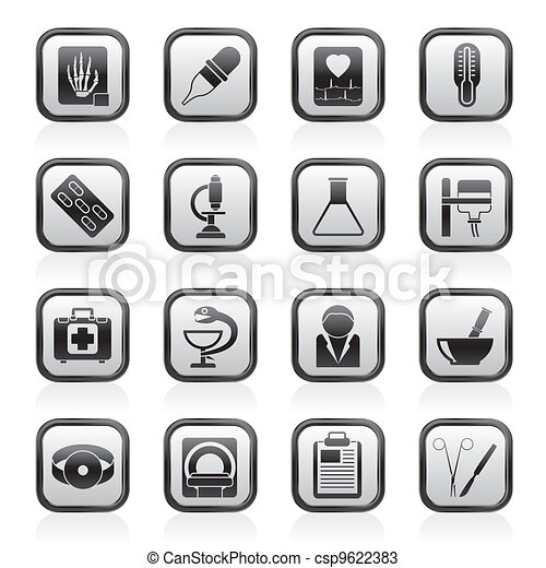 Healthcare and Medicine icons - csp9622383