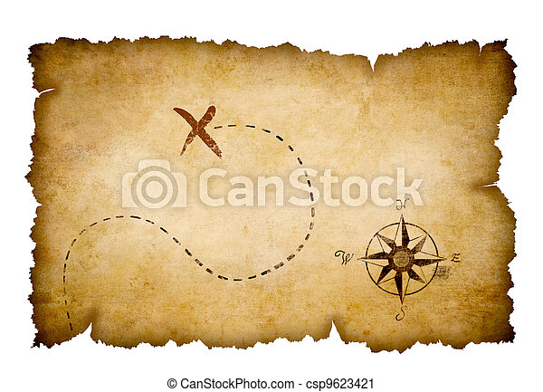Pirates treasure map - csp9623421