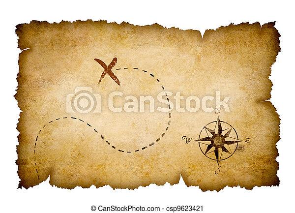 Pirates treasure map - csp9623421