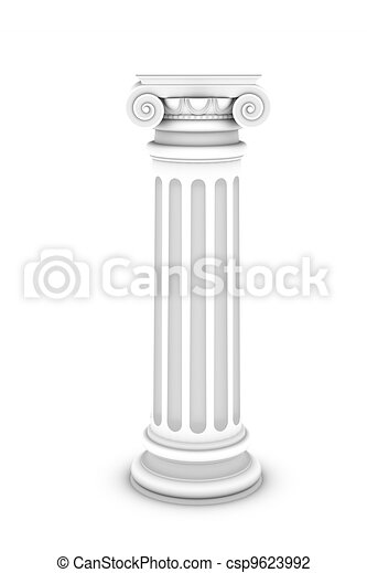 Marble column isolated on white background - csp9623992