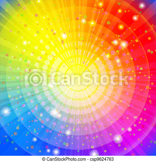 Background abstract rainbow - csp9624763