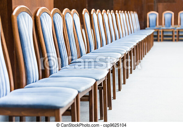 Row of luxurious blue chairs - csp9625104