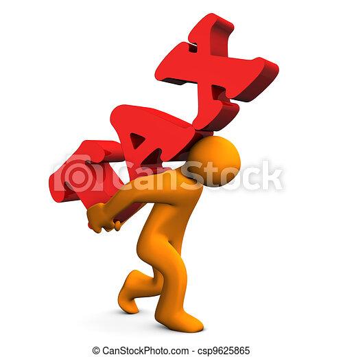 Tax Stress - csp9625865