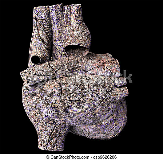 Model of ruined human heart - csp9626206
