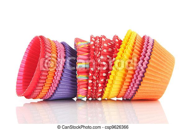 Colorful cupcake papers - csp9626366