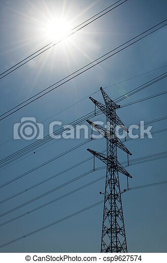 Power Lines Transmission - csp9627574