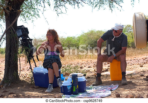 Gold Prospectors in Burkina Faso - csp9628749