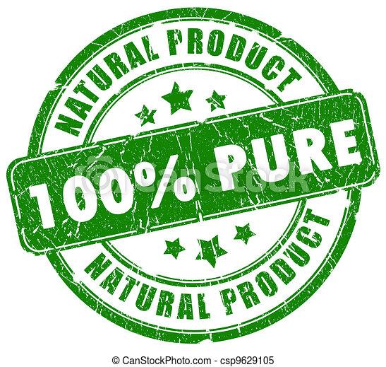 100 pure natural stamp - csp9629105