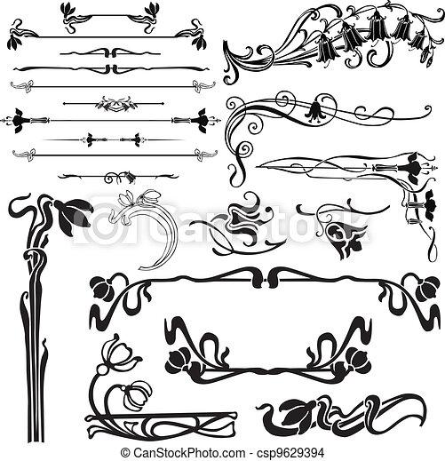 Vetor eps de decora o p ginas sinos jogo de ornate - Paginas web de decoracion ...